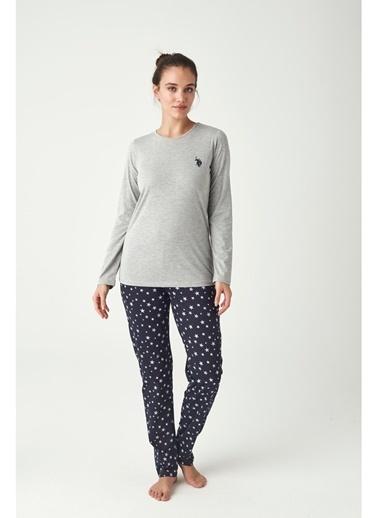 U.S. Polo Assn. Kadın Pijama Takımı Gri